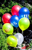 Veelkleurige ballonnen — Stockfoto
