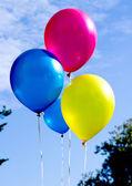 Různobarevné balónky — Stock fotografie