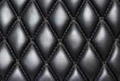 Black quilted leather background — Stock Photo