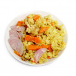 Pilaf. Eastern cuisine. — Stock Photo