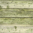 Green old wooden fence panels — Stock Photo #37344647