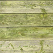 Green old wooden fence panels — Stock Photo #37344651