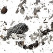 Stock Photo: Ashes of paper