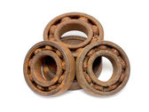 Old and rusty ball bearing — Stock Photo