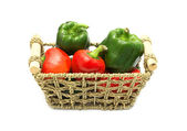 Peppers in the basket — Stock Photo