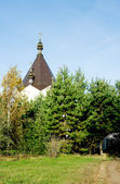 Landscape with Orthodox Church — Stock Photo