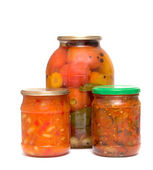 Tomato jam in glass jar. — Stock Photo