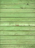 Old green wooden fence panels — Stok fotoğraf