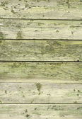 Green old wooden fence panels — Stock Photo