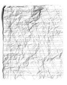 Skrynkligt papper blad — Stockfoto