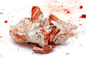 Wrinkled paper blood — Stock Photo