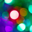 Colorful bokeh from the party light — Stock Photo