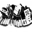 Stock Photo: Keychains with digits