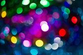 Färgglada bokeh från part ljus — Stockfoto