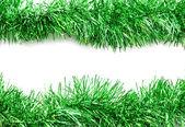 рождественская зеленая мишура растяжки — Стоковое фото