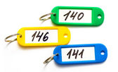 Color keychains with digits — Stock Photo