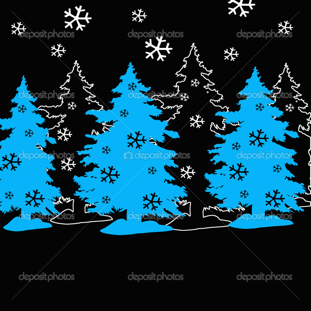 Christmas and winter background  Stock Photo #14208948
