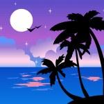 Tropical night — Stock Vector #1857526