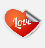 Love heart sticker — Stock Vector