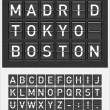 Airport style timetable display — Imagen vectorial