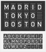 机场样式的时间表显示 — 图库矢量图片