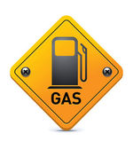 Gas road sign — Stock Vector