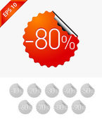 Sale stickers: -80 — Stock Vector