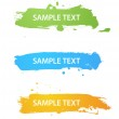 Grungy colored banners — Stock Vector #3160732