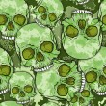 Camouflage Skull Pattern. — Stock Vector #32751707