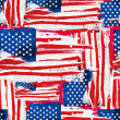 USA Flag Seamless Background. — Vektorgrafik
