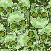 Camouflage Skull Pattern. — Stock Vector