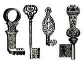 Stary odbiór kluczy — Wektor stockowy