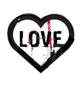 Grunge heart icon — Stock Vector