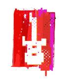 Grunge guitar symbol — Stock Vector
