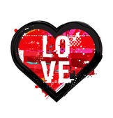 Grunge heart icon — Cтоковый вектор