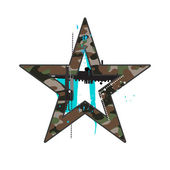 Camouflage star — Stock Vector