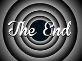The end typography — Stock Vector