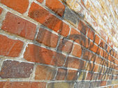 Antecedentes, pared de ladrillo — Foto de Stock