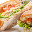Stock Photo: Ciabattpanini sandwich with chicken and tomato