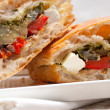 Ciabattpanini sandwichwith vegetable and feta — Stock Photo #19768571
