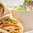 Club sandwich pita bread roll — Stock Photo #20380833