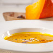 Stock Photo: Classic pumpkin soup