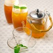 Fresh selection of tea - Stock Photo