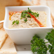 Stock Photo: Moutabal babghanoush eggplant dip