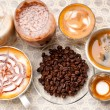 Selection of different coffee type — Foto de Stock