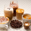 Selection of different coffee type - Stock Photo