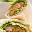 Stock Photo: Falafel pitbread roll wrap sandwich