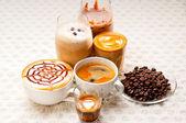 Farklı kahve türü seçimi — Stok fotoğraf