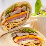 Постер, плакат: Club sandwich pita bread roll