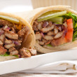 Kafta shawarma chicken pita wrap roll sandwich — Stockfoto #24172805